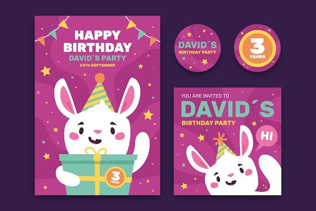 Birthday invitation children template