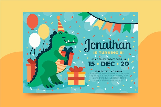 Birthday invitation style template