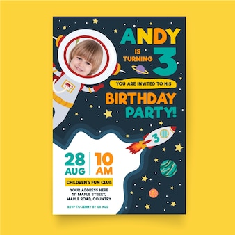 Birthday invitation template for childrens