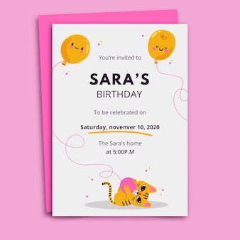 Birthday invitation template