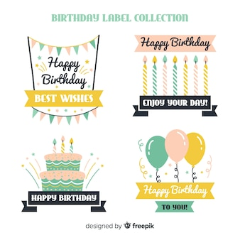 Birthday label collection
