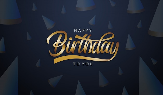 Birthday letter with cap background