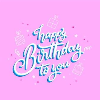 Birthday lettering concept