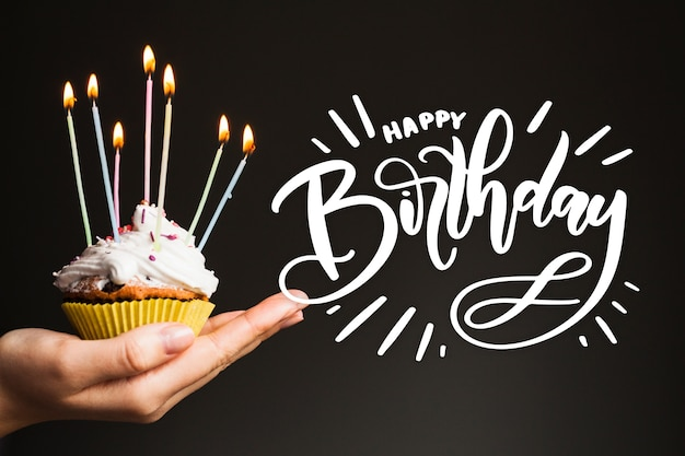 Birthday lettering design