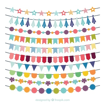 Birthday multicolor garland collection