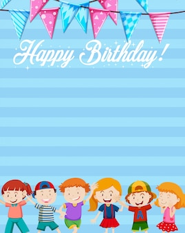 A birthday note template