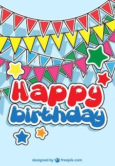 誕生日パーティーの赤ちゃんカード 無料ベクター