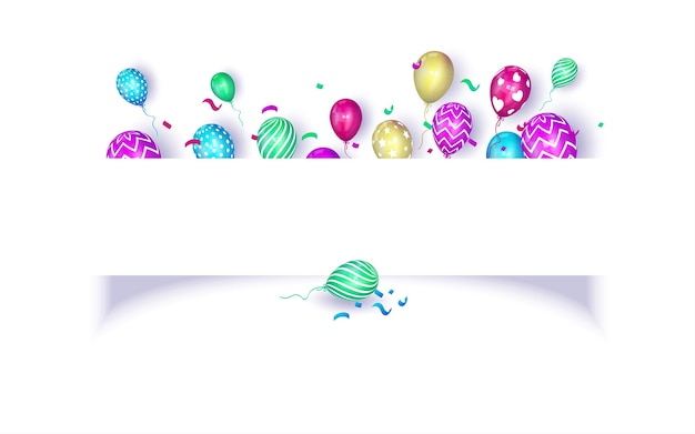 Birthday party celebration background with copy space for text and message