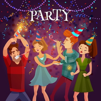 Birthday party celebration festive background poster
