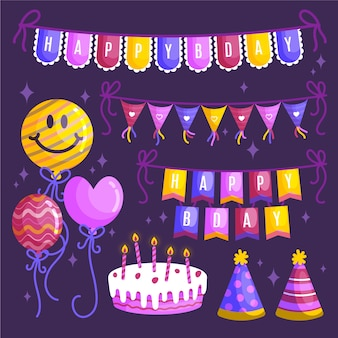 Birthday party decoration collection