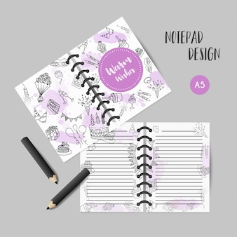 Birthday party doodle organizer template