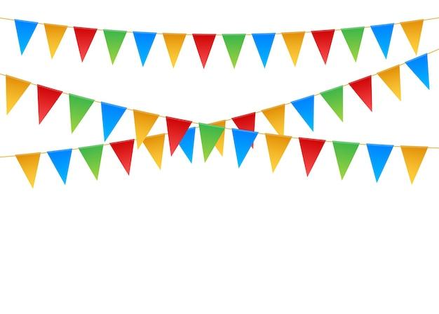 誕生日パーティーの招待状のバナーのイラスト