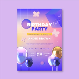 Birthday party poster template