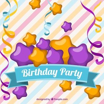 Birthday party stripes background