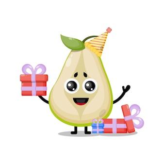 誕生日梨かわいいキャラクターマスコット