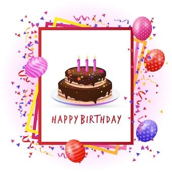 Birthday perty card with unique design vector