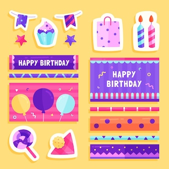 Birthday planner scrapbook set