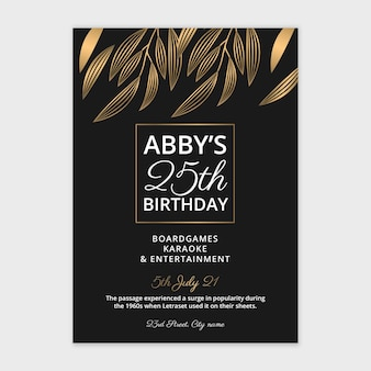Birthday poster template