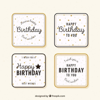 Birthday retro greetings set