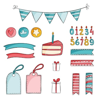 Birthday scrapbook set