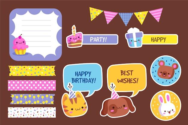 Birthday scrapbook set
