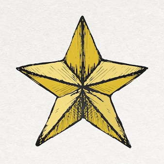 Birthday star sticker in colorful vintage style