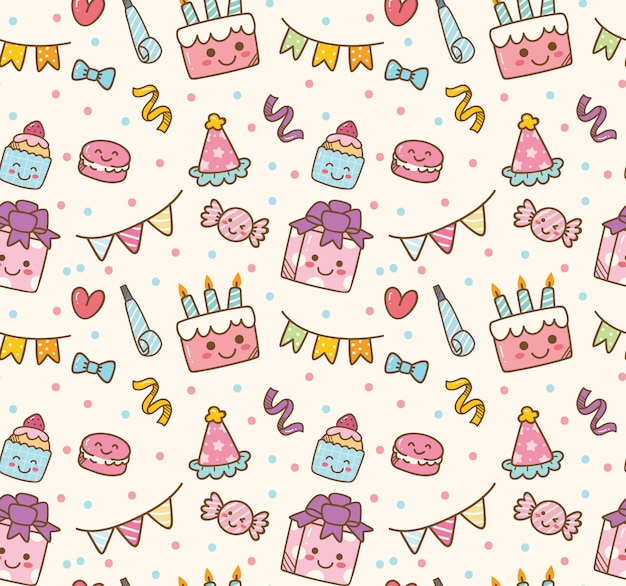 Birthday themed seamless background