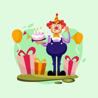 Birthday vector logo icon illustration