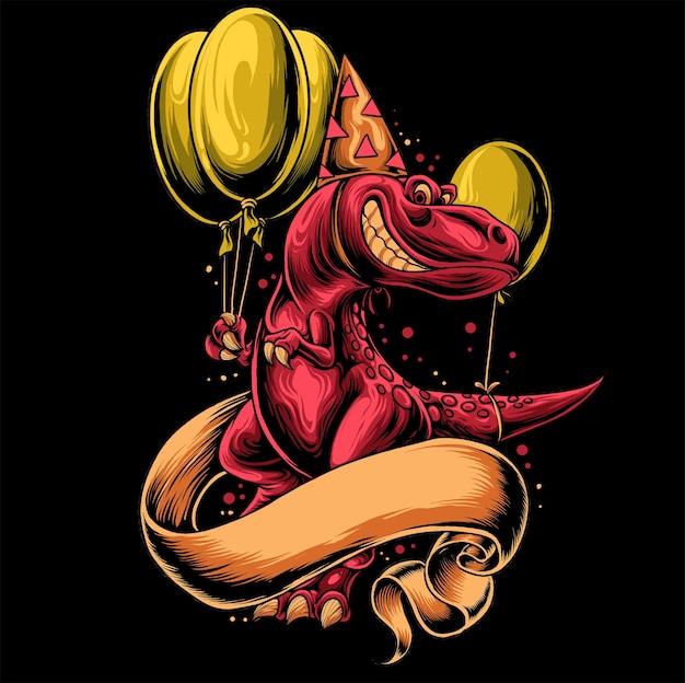 恐竜とリボンの誕生日