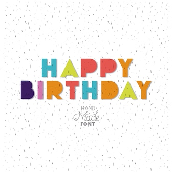 Birthday to you phrase with hand made font