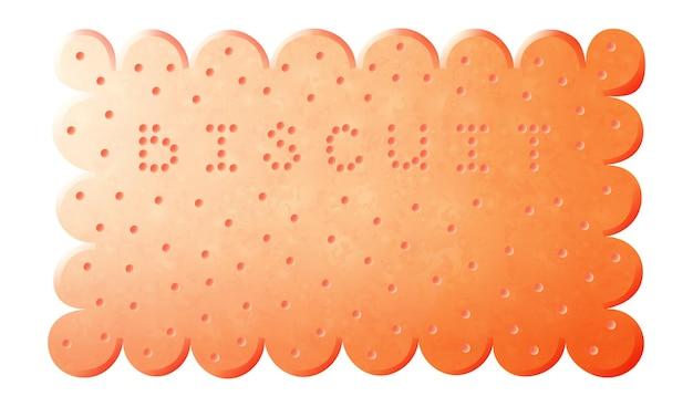 ビスケットクッキー。白い背景で隔離の漫画ビスケットクッキーバニラクラッカー