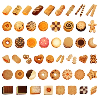 Biscuit icon set