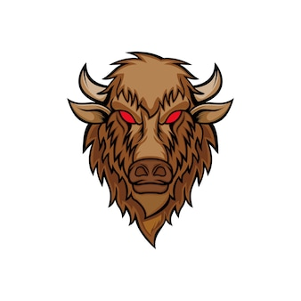 Bison head vector