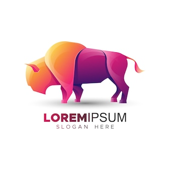 Bison logo template
