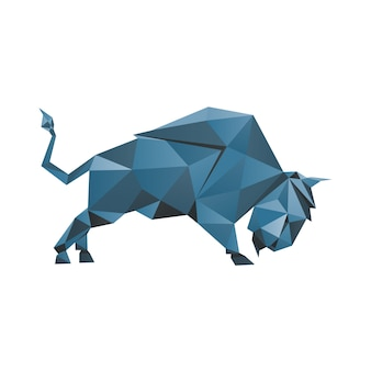 Bison low poly style