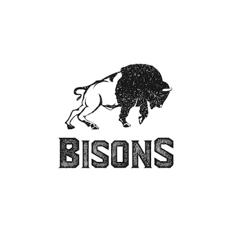 Bisons logo vintage