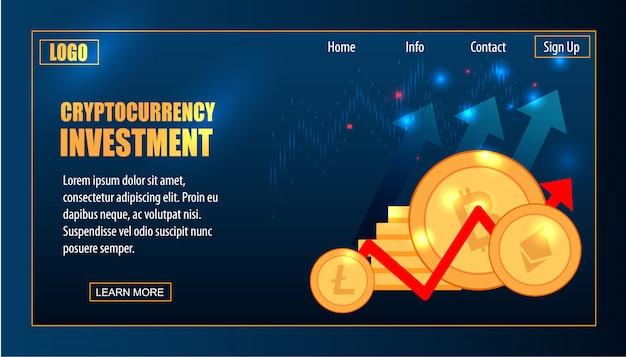 ビットコインと暗号通貨の取引仮想未来