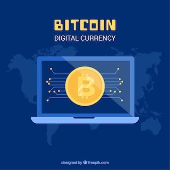 Bitcoinの背景とノートパソコン