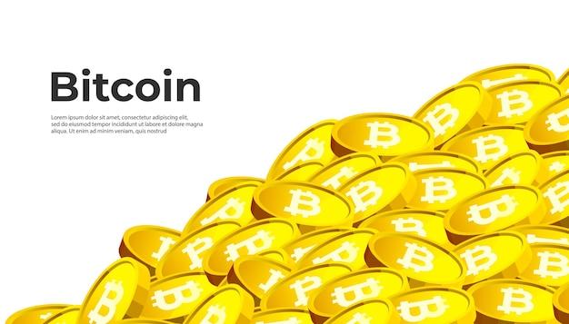 Bitcoin Btc 암호 화폐 배너 프리미엄 벡터