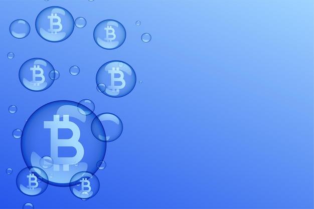 Sfondo del concetto di declino del mercato della bolla di bitcoin