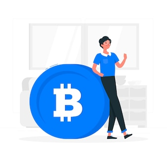 Bitcoin concept illustration
