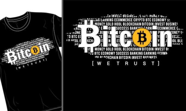 Биткойн крипто футболка дизайн графический вектор