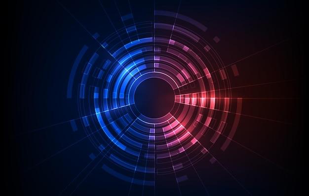 Bitcoin 암호 화폐 개념입니다. 벡터 기술 미래 레이블 디자인입니다. 빛나는 사이버 홀로그램. 공상 과학 디지털 미래 테마입니다.
