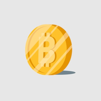 Bitcoin cryptocurrency electronic cash symbol vector