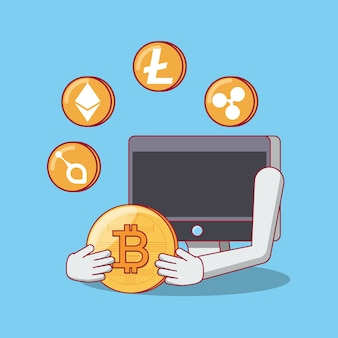 Bitcoin cryptocurrencyデザイン