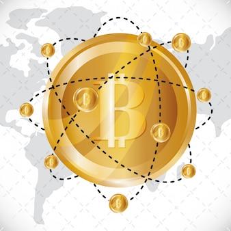 Bitcoin design. illuistration