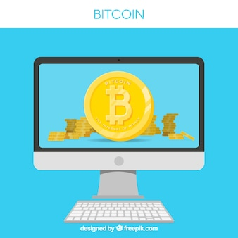 Bitcoin design with monitor