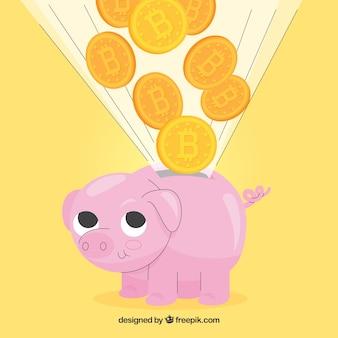 Piggybank를 사용한 비트 코인 디자인