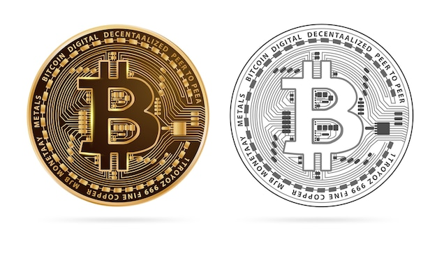 Bitcoin digital currency golden coin