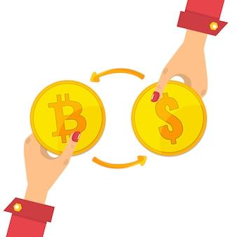 Обмен биткойнов. обмен цифровой валюты на биткойны и доллары